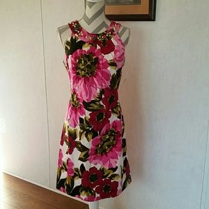 New directions bright floral dress